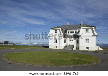 House Hofdi where Summit talk beteween Reagan and Gorbachev - stock photo