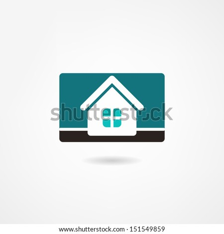 house icon - stock photo