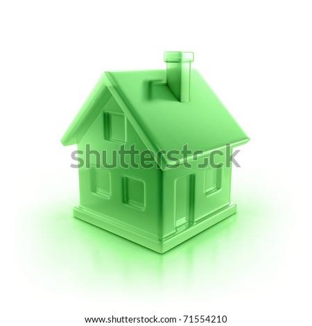 house icon 3d illustration - stock photo