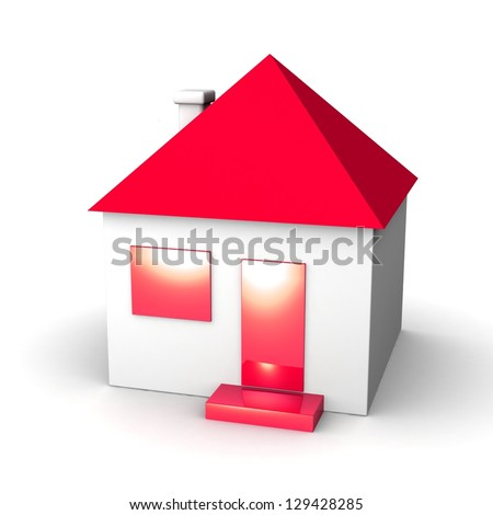 House icon. 3d illustration. On white background. - stock photo