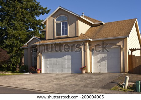 House in a neighborhood Gresham Oregon. - stock photo