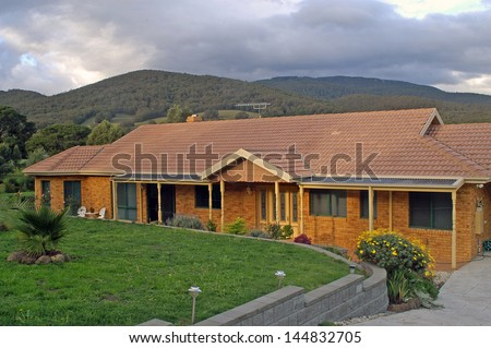 House in a residential district of Melbourne - stock photo