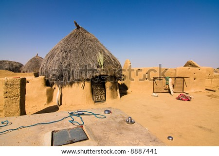House in a small isolated village - Thar desert, Rajasthan, India