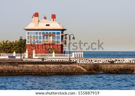 House in Arrieta, Lanzarote, canary island, Spain - stock photo
