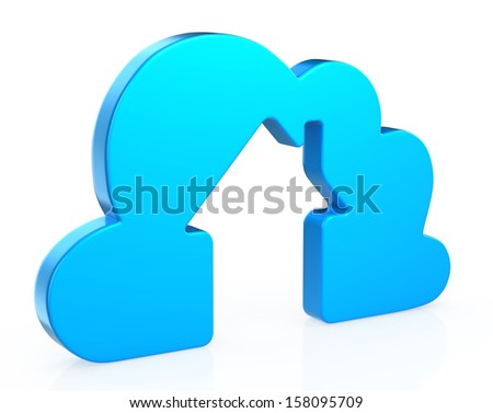 house in clouds  - stock photo