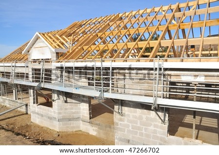 house in construction - stock photo