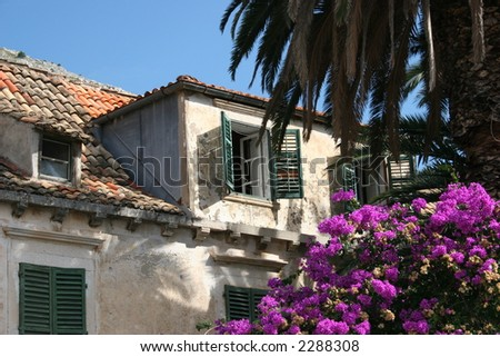 House in Dubrovnik, Croatia. - stock photo