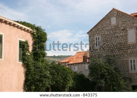 House in Dubrovnik, Croatia. - stock photo