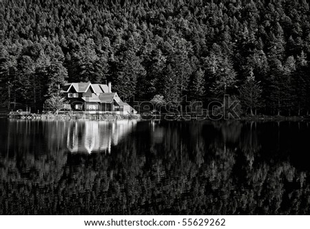 House in forest. Golcuk. Turkey - stock photo