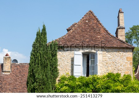 House in France's Dordogne - stock photo