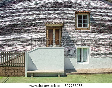 House in Galicia covered with
