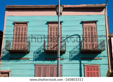 House in La Boca, Buenos Aires - stock photo