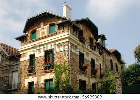 House in Montmartre (Paris, France) - stock photo