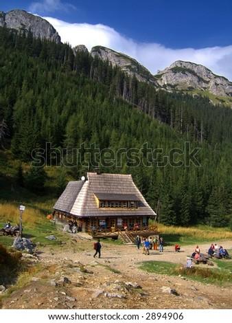 house in mountains, Tatra Mountains, Zakopane, Poland