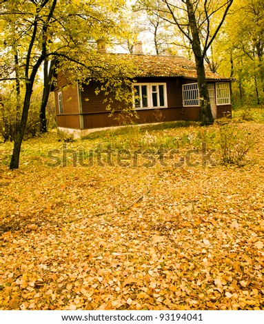 house in park - stock photo