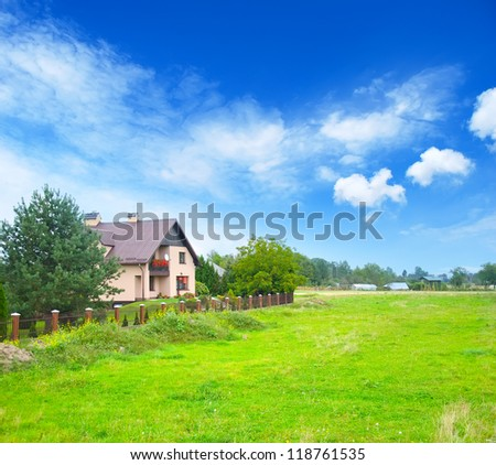 house in Polland - stock photo