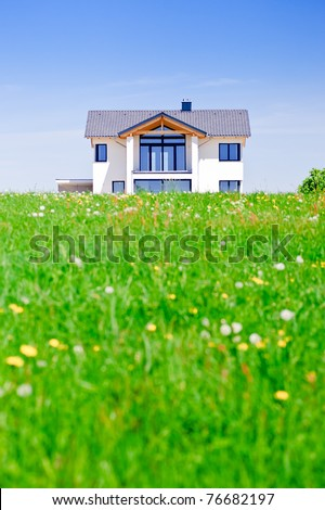 House in the Green - stock photo