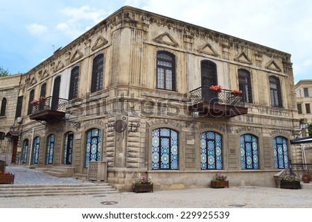 House in the Old City in Baku - stock photo