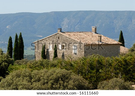 House in the Provence, southern France - stock photo