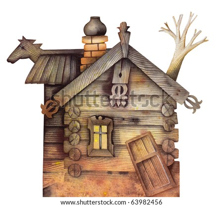 House in village - stock photo