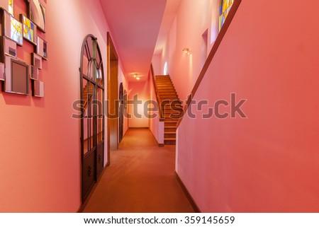 House interiors furnished, corridor - stock photo