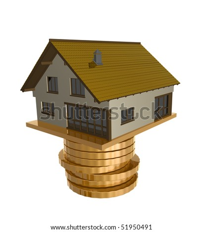 House investment icon symbol 3d illustration