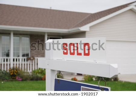House is sold - stock photo