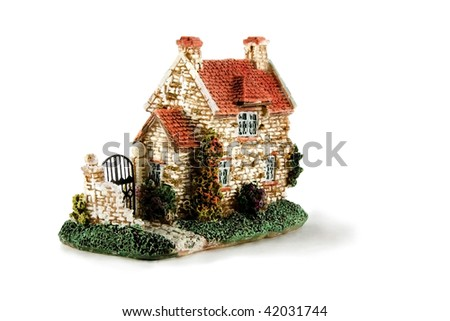 house isolated over white background - stock photo
