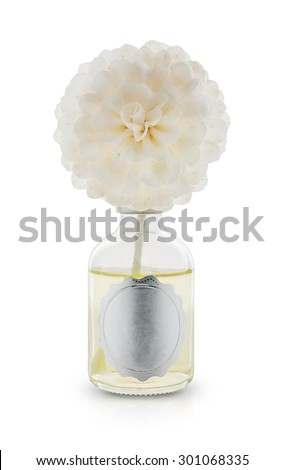house jasmine perfume scent diffuser with jasmine flower wick isolated on white background - Scent Diffuser