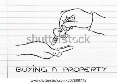 house key exchange, concept of buying or moving house