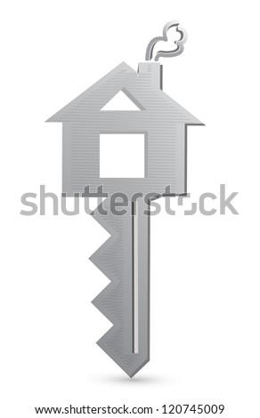 house key illustration design over a white background - stock photo