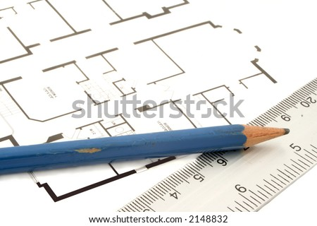 house layout and floor plan for real estate (floor plan copyright is my my own) - stock photo