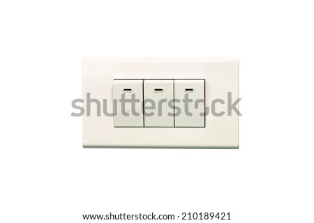 House Light on-off switch isolated - stock photo