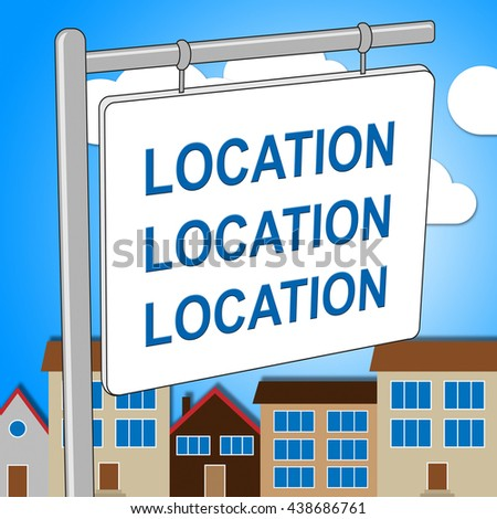 House Location Representing Locate Homes And Residence - stock photo