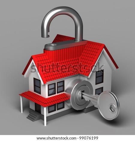 House Lock - stock photo