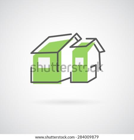 House logo. Trendy icon for business. Company logo. - stock photo