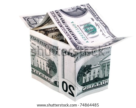 house made of money - stock photo