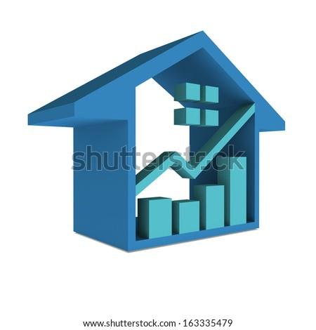 House Market 3D - stock photo
