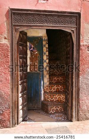 house marrakesh morocco - stock photo
