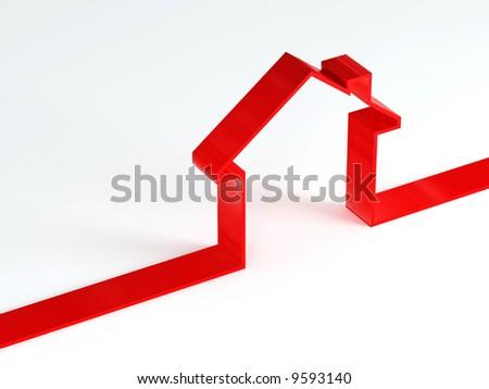house metaphor - stock photo