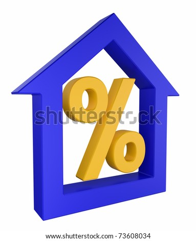 House model with percent sign
