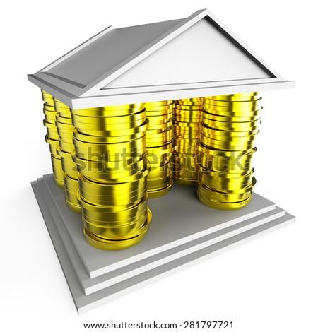 House Mortgage Indicating Borrow Money And Finance - stock photo