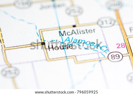 House. New Mexico. USA on a map