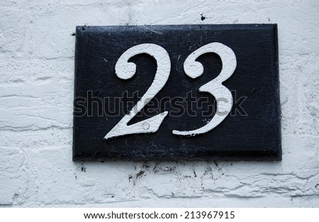 house number 23 - stock photo
