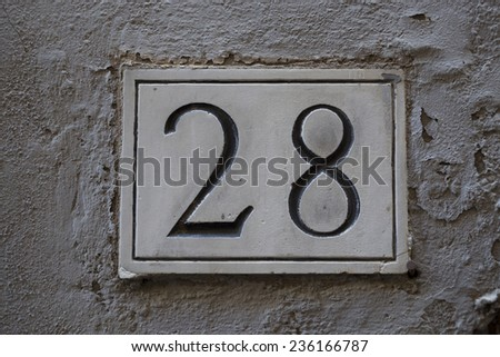 Old fashioned house numbers 29