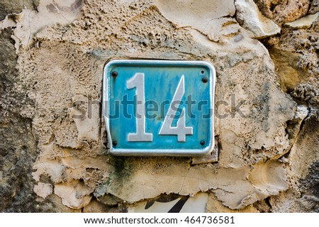 House number fourteen (14)