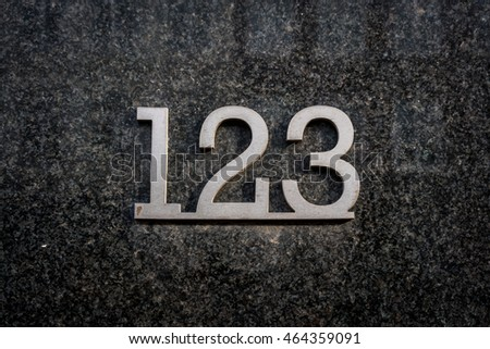 House number one hundred and twenty three