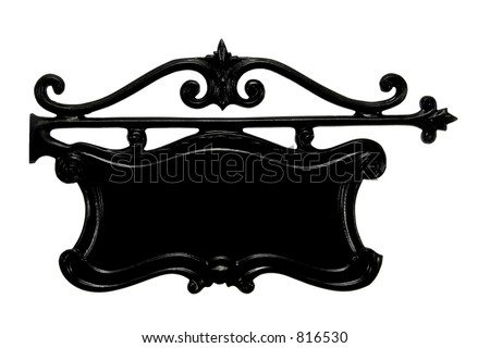 House Number Plate - stock photo