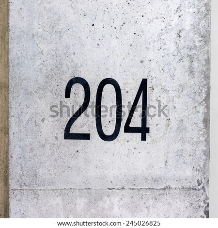 house number two hundred and twenty four - stock photo