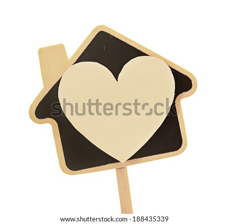 house of love (heart and house symbol) - stock photo